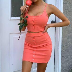 Skirt crop top set